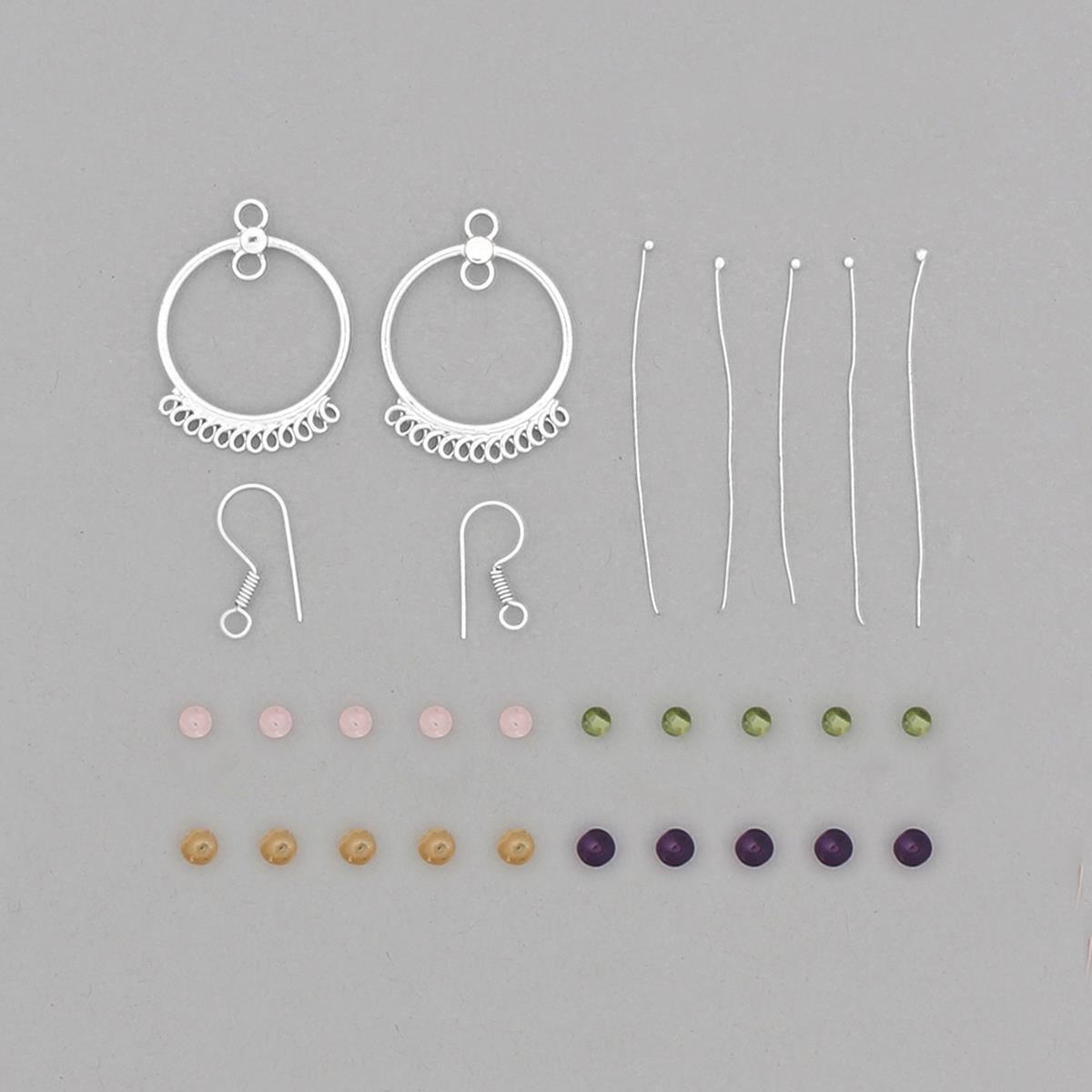 Silver Plated Copper Chandelier Earrings Project Kit Inc