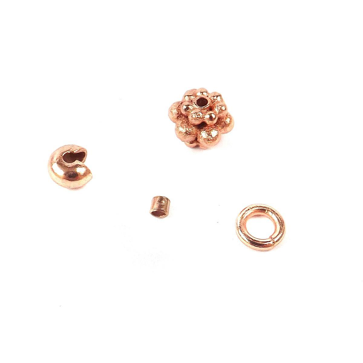 Rose Gold Copper: Rose Gold Plated Copper Essential Finding Kit Organza Bag