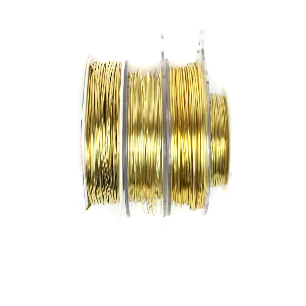 Copper Wire Bundle : M gold coloured copper wire bundle inc mm