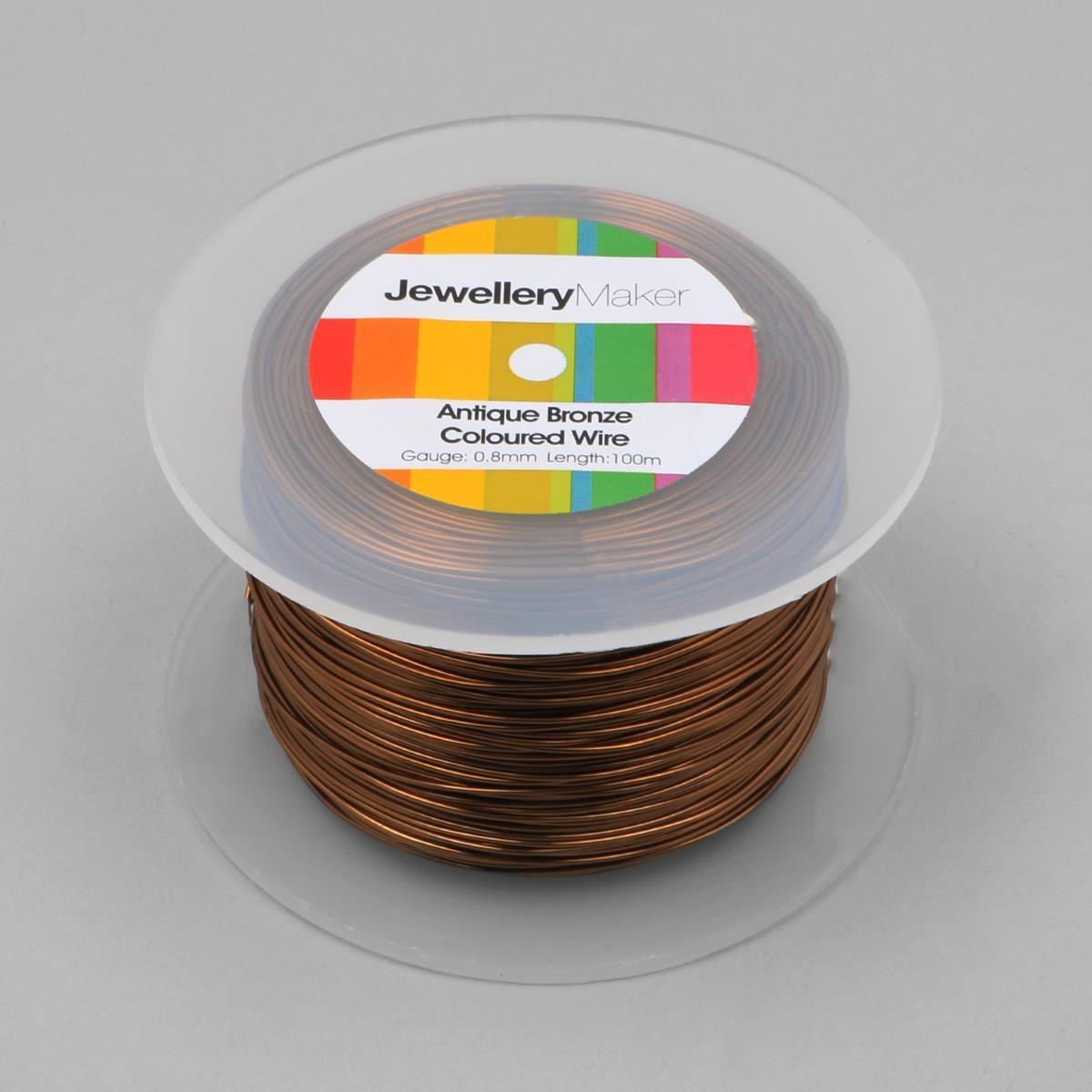 100m Antique Bronze Coloured Copper Wire 08mm Wiring 1