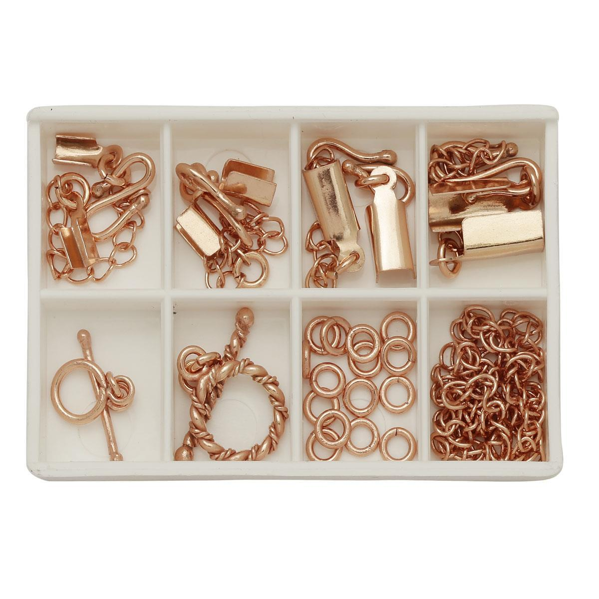 Rose Gold Copper: Matrix Collection; Rose Gold Plated Copper Macrame