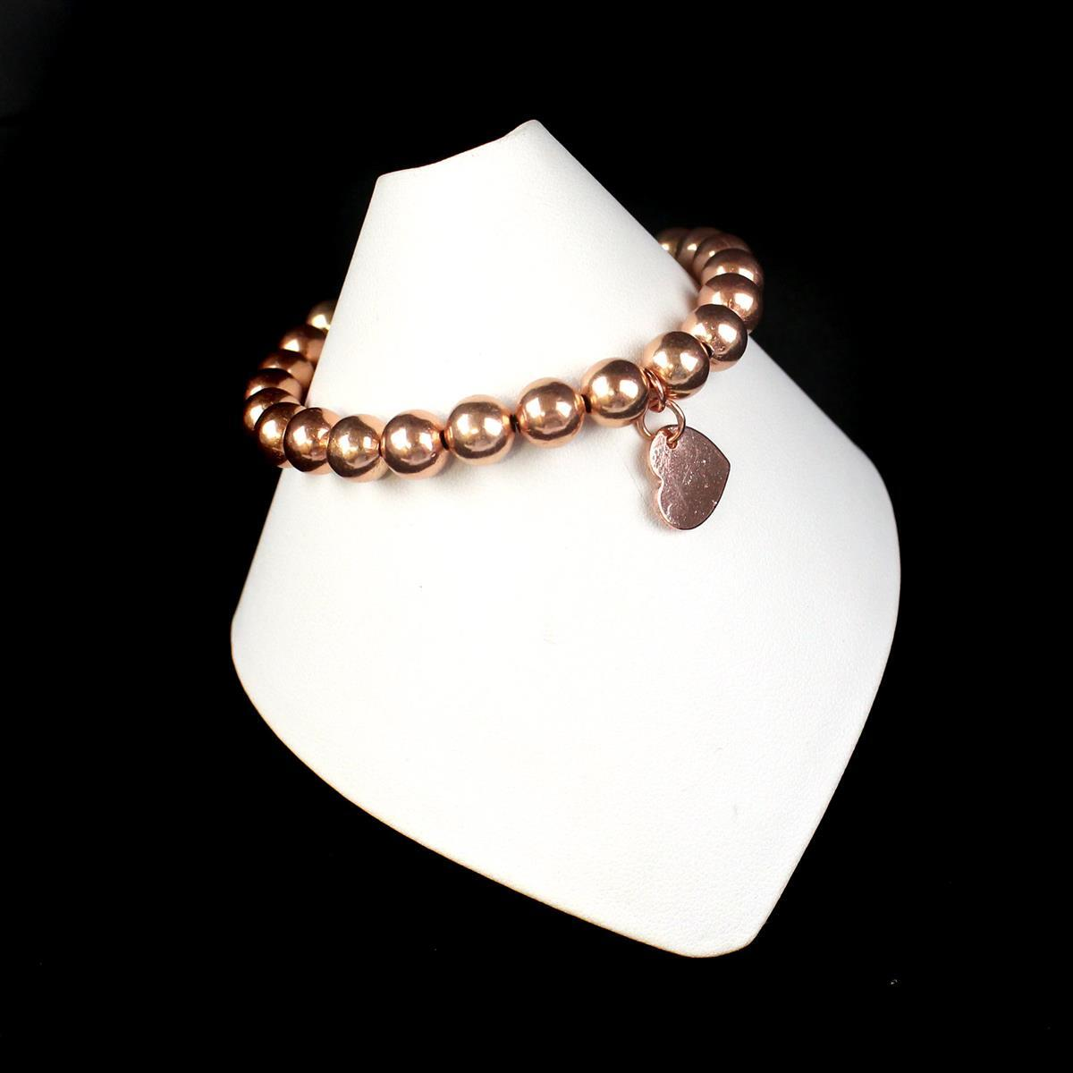 Rose Gold Copper: Rose Gold Plated Copper Beaded Bracelet Kit With