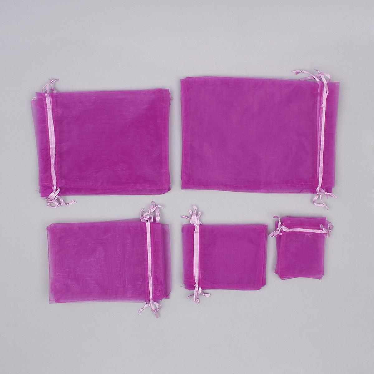 purple organza bags pack 25pcs jewellerymaker