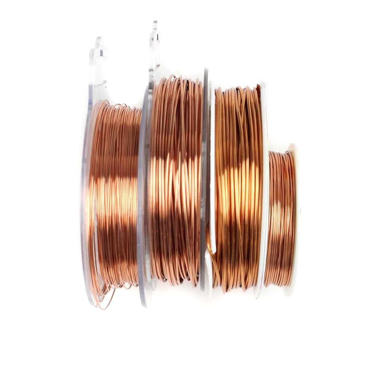 Copper Wire Bundle : M copper coloured wire bundle inc mm