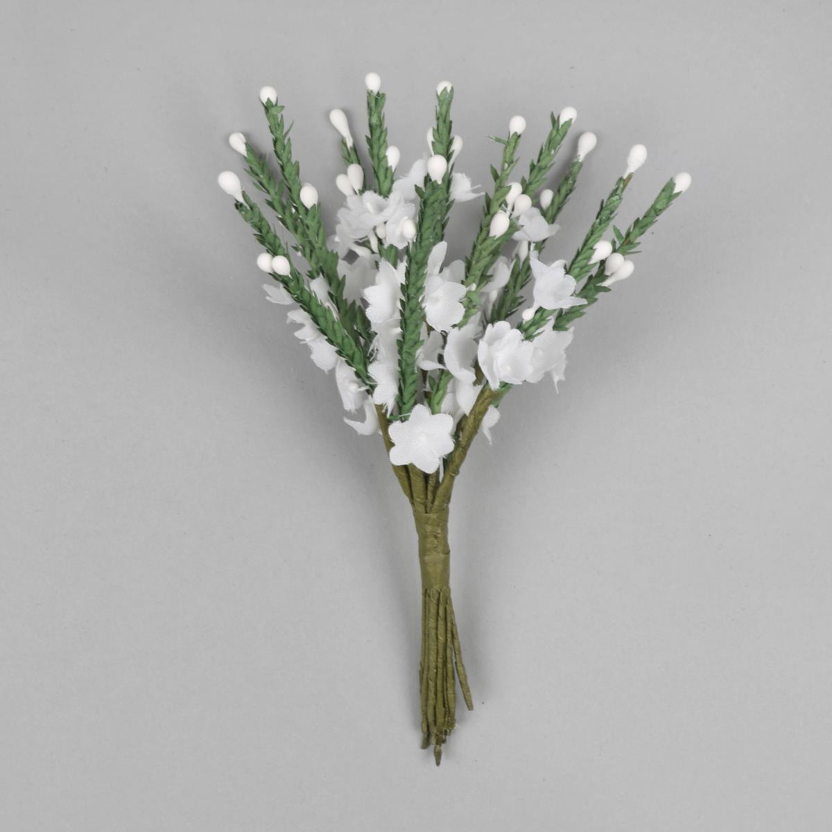 Faux White Heather Flower Bunch Jewellerymaker