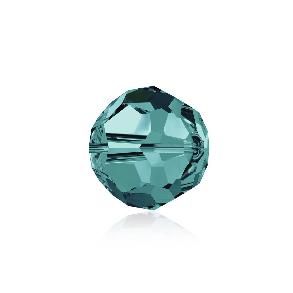 68b0acbcc Swarovski Crystal Beads - Pack of 6 Round 5000 - 8mm Blue Zircon |  JewelleryMaker.com