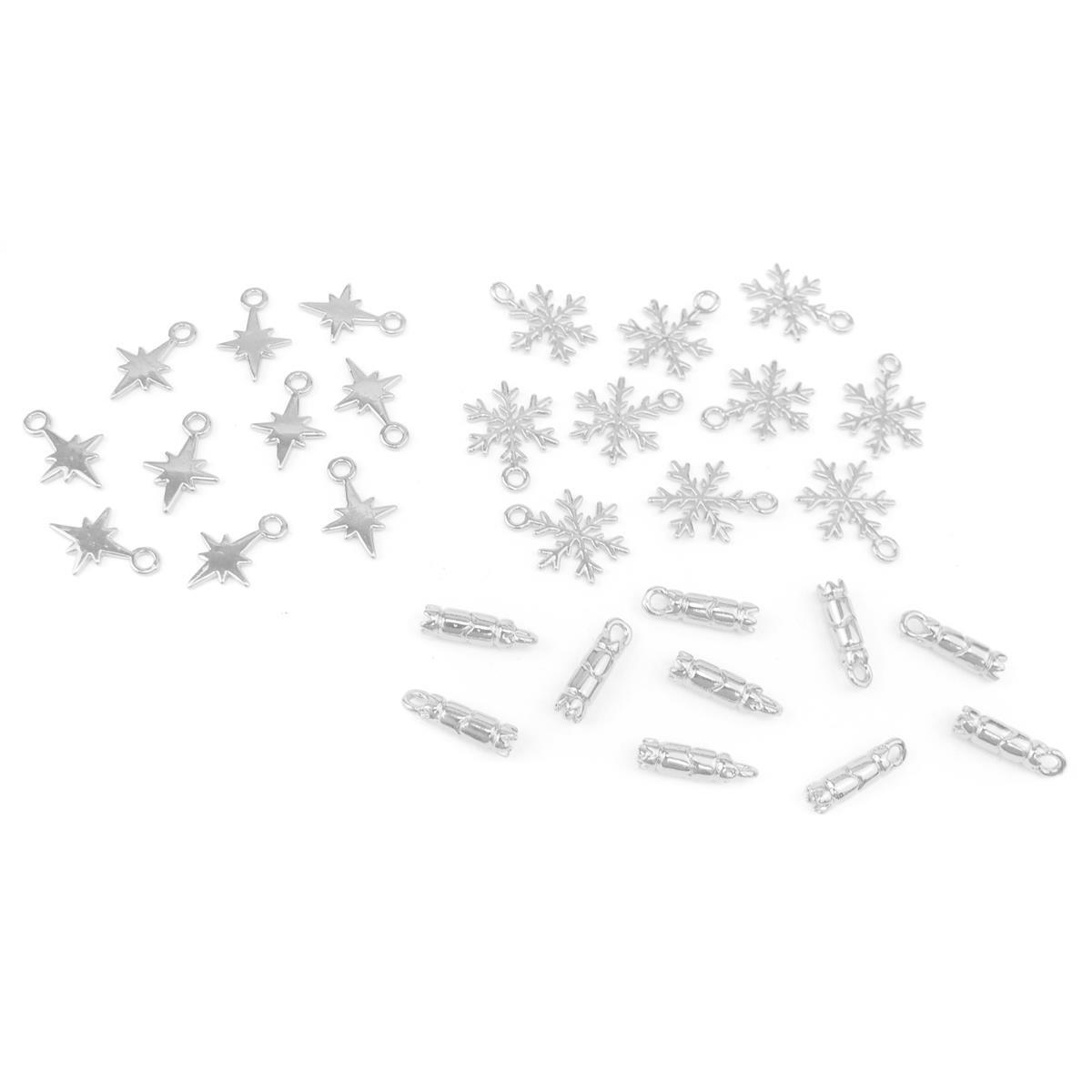 Charming Christmas #2: Silver Plated Base Metal Snowflake, Cracker ...