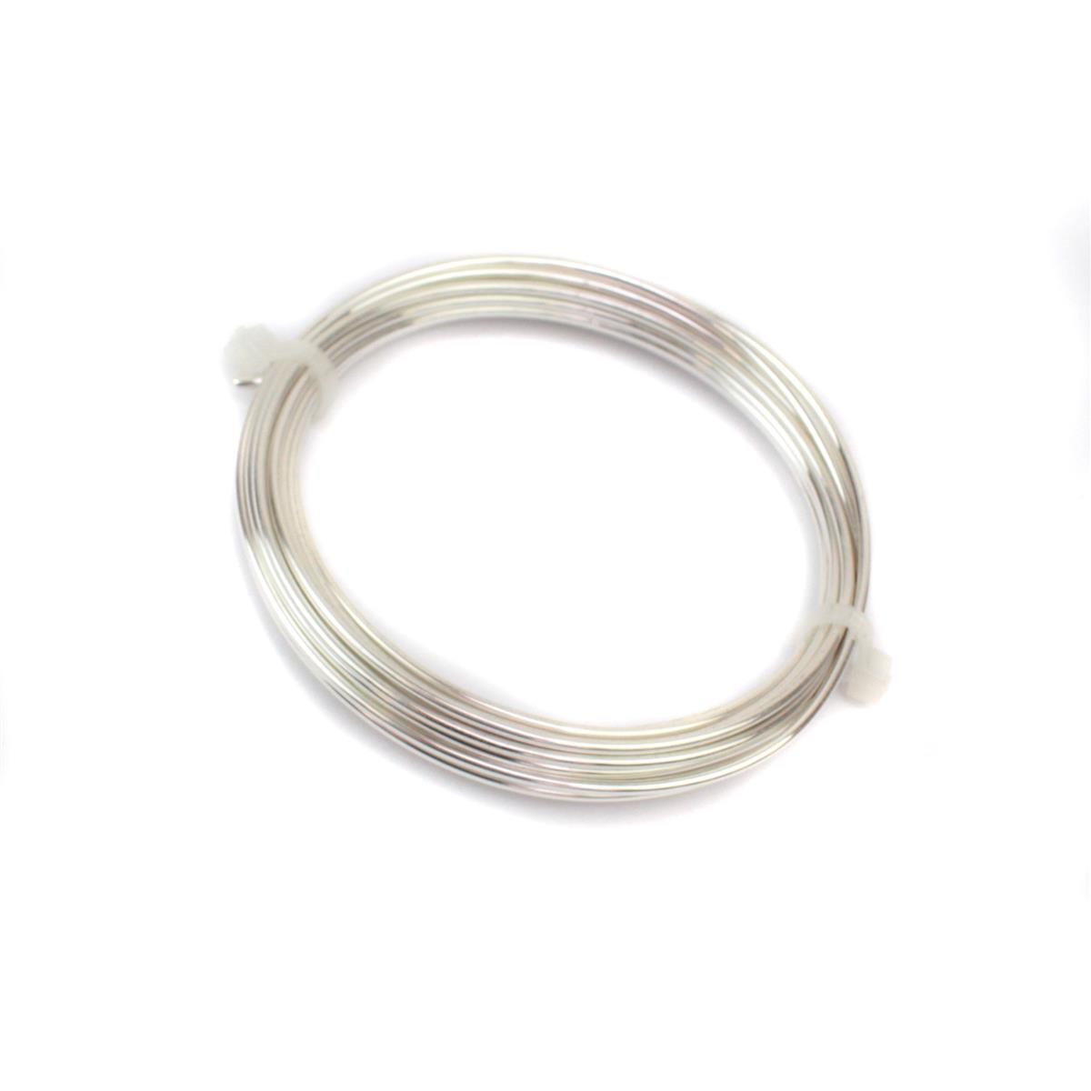 Artistic Wire, 14 Gauge (1 6 mm), Silver Plated, Tarnish