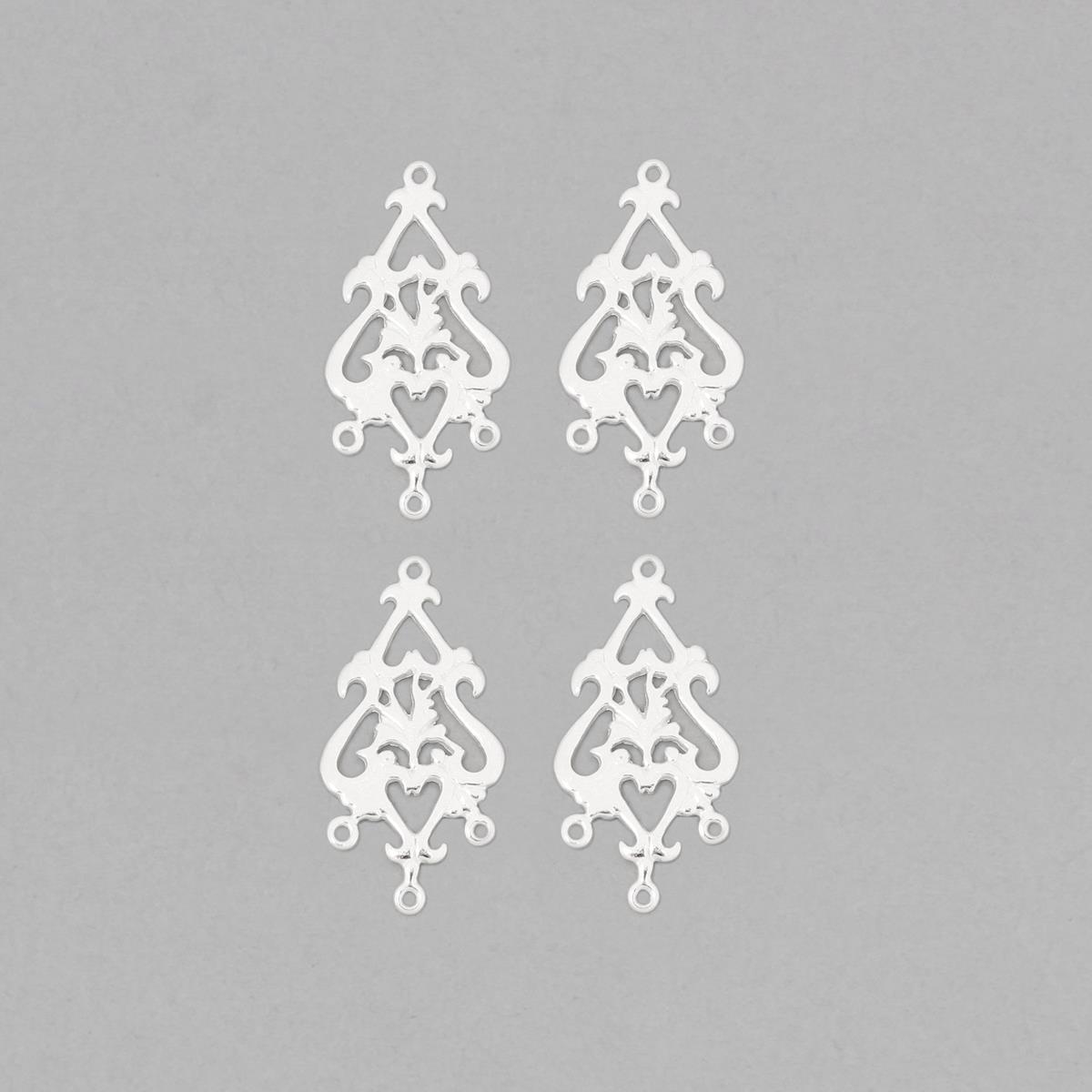 925 Sterling Silver Fancy Chandelier Earring Finding