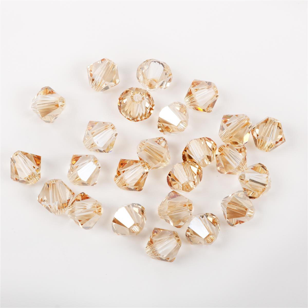 bf2a8e10f Swarovski Crystal Beads - Pack of 24 Bicones 5328 - 4mm Crystal Golden  Shadow | JewelleryMaker.com