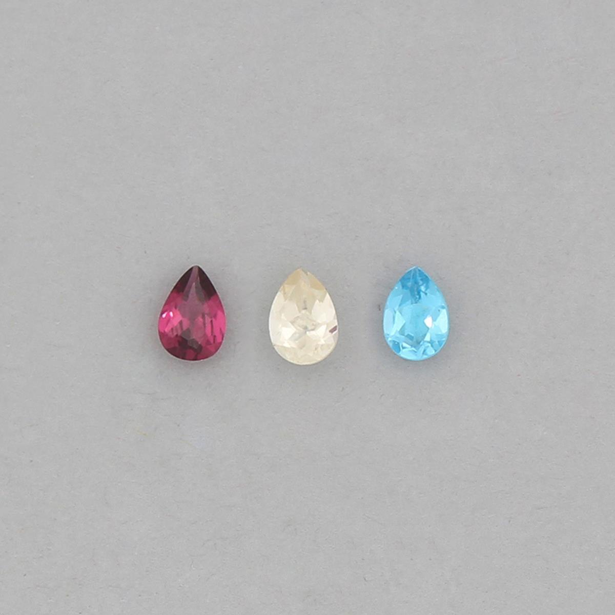 7x5mm Pear Cut Gemstone Collection