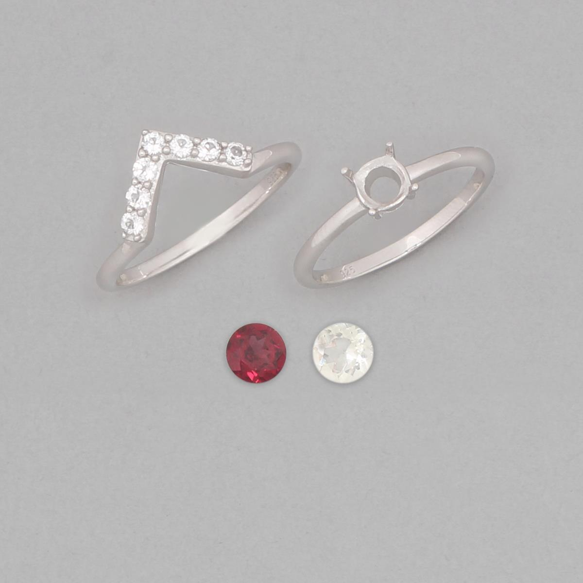 size 9 925 sterling silver set of 2 stacker ring mounts