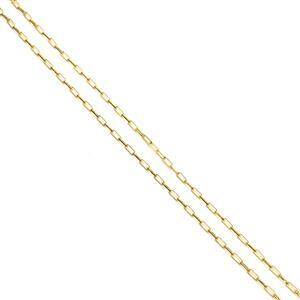 Gold Plated 925 Sterling Silver 2.3mm Round End Link Chain Approx 45cm/18''