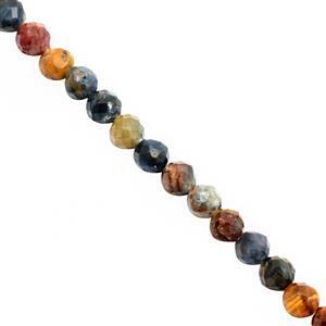 6cts Pietersite Faceted Round Approx 2.50mm, 20cm Strand