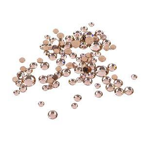 Swarovski XIRIUS Flat Back 2078 (Hot Fix) Mixed Bag 3.1-7.1mm Golden Shadow AHF 100pk