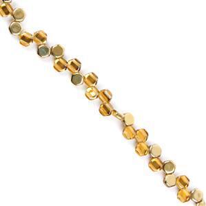 Czech Honeycomb Beads - Topaz Amber, Approx. 6mm (30pcs)