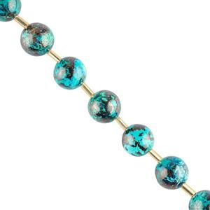 50cts Chrysocolla Plain Rounds Approx 10mm, 8cm Strand.