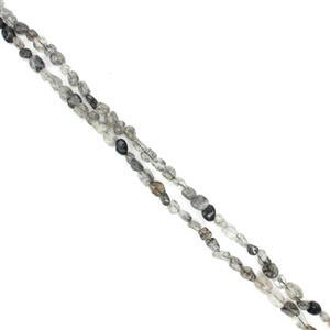 360cts Black Rutile Small Nuggets Approx 5x8mm, 60