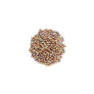 SuperDuo Crystal Orange Rainbow Beads Approx 2.5x5mm (22.5GM/TB)