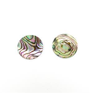 Abalone Flat Coin Approx 20mm Pack of 2