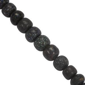 40cts Black Matrix Opal Graduated Plain Rondelles Approx 3.5x1.5 to 7x5mm, 20cm Strand