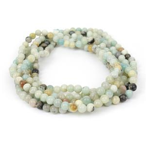 420cts Multi-Colour Amazonite plain Rounds Approx 6mm, 160cm