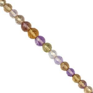 40cts Ametrine Graduated Faceted Round Approx 4 to 7mm, 20cm Beads Strand