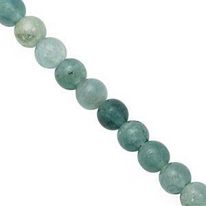 20cts Grandidierite Smooth Round Approx 3.5 to 4.5mm, 15cm Strand