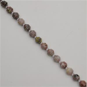 170cts Multicolour Quartzite Faceted Satellite Beads Approx 9x10mm, 38cm Strand