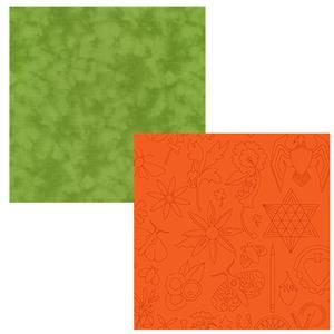Creative Grids Chartreuse & Pumpkin Fabric Bundle (1m)