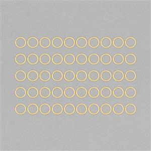 Gold Plated Copper Hollow Open Jump Rings - 16mm & Thickness 2mm (50pcs/pk)