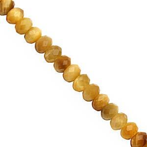 90cts Golden Tigers Eye Faceted Rondelle Approx 5x3 to 6x4mm, 38cm Strand