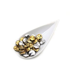 Preciosa Ornela Crystal California Silver Ripple Beads Approx. 12mm (25pcs)