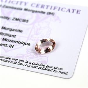 2.5cts Zambezia Morganite 12x8mm Oval (I)
