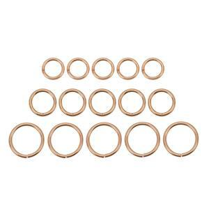 Rose Gold Plated 925 Sterling Silver Jump Ring Bundle 150pcs Approx 0.7mm Guage (50 x 3mm, 4mm & 5mm)