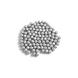 Czech RounDuo Beads, 5mm - Aluminium Silver (100pcs)