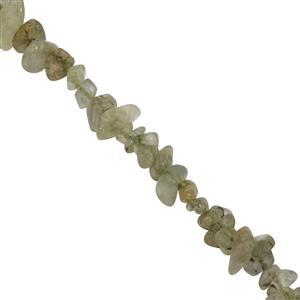 200cts Prehnite Small Nuggets Approx 2.75x0.75 to 7.75x2.75mm, 84cm strand