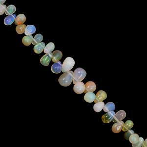 8cts Ethiopian Opal Top Side Drill Plain Drop Approx 2.5x2 to 6x4mm, 10cm Strand
