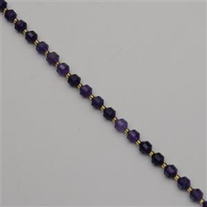100cts Amethyst Faceted Satellite Beads Approx 7x8mm, 38cm Strand