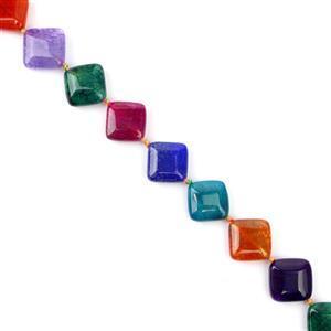 270cts Multi Colour  Agate Diamonds Approx 16mm 38cm