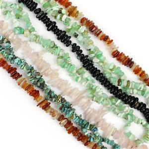 Black Friday Special! Nuggets Collection, Inc; Agate, Morganite, Turquoise & Chrysoprase.