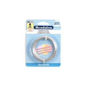 Beadalon Silver Plated German Style Round Wire, 26 Gauge/0.41mm 65.6ft/20m