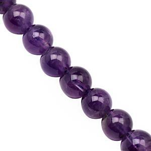 125cts Amethyst Smooth Round Approx 8mm, 28cm Strand