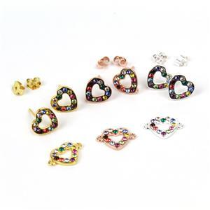 9pc Sterling Silver Swarovski Collection