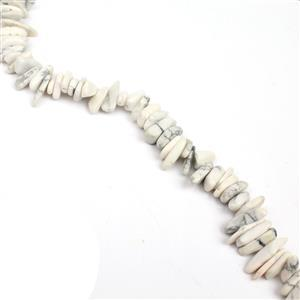 330cts Howlite Long Chips Approx 6x9-6x26mm, 38cm Strand