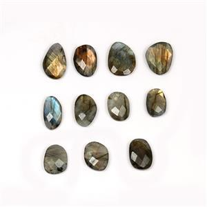 115cts Labradorite Faceted Rose Cut Mixed Shapes