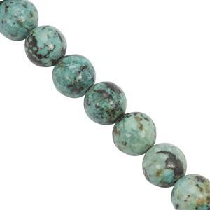 115cts Arizona Turquoise Smooth Rounds Approx 8 to 8.5mm, 28cm Strand