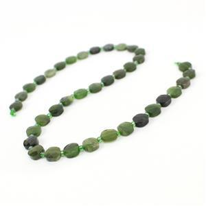 100cts Canadian Nephrite Faceted Fancy Squares Approx 8mm, 38cm Strand