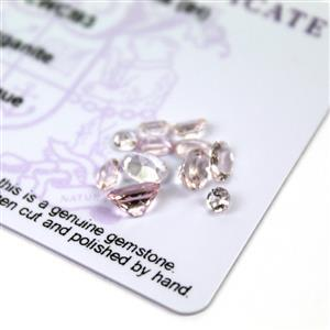 Dealer's Dozen! 2.1cts Zambezia Morganite Pack of 12 (I)