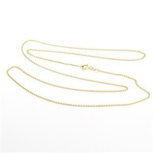 Gold Plated 925 Sterling Silver 035 Rolo Chain, 61cm/24